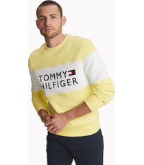 tommy hilfiger men's essential logo sweatshirt limelight - xxl