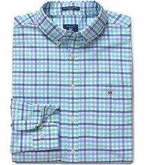 gant oxford 3 col gingham overhemd turquoise