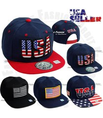 usa american flag snapback hat brim flat bill adjustable star baseball cap mens
