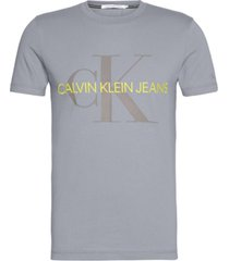 polera slim vegetable monogram gris calvin klein