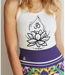 bright boho tank top om lotos