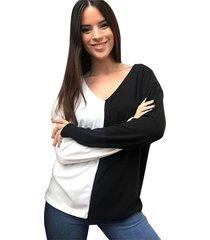 sweater natural destino collection bicolor