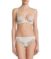 la perla women's mosaic motif underwire bra - natural - size 34 d