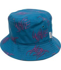 carhartt wip all-over print sun hat - blue