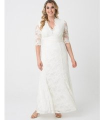 kiyonna women's plus size amour lace wedding gown