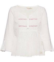 alma blouse blouse lange mouwen wit odd molly
