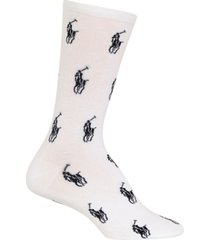 polo ralph lauren women's all over knit in player crew socks