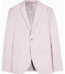 mens purple lilac super skinny fit single breasted blazer with notch lapels