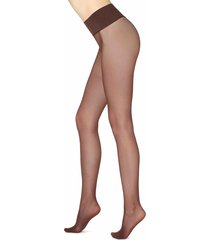 calzedonia - 20 denier seamless totally invisible sheer tights, l, brown, women