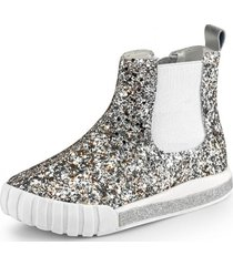 botas glitter comfy plateado bibi