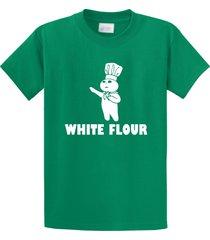white flour white power spoof funny shirt