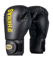 luva boxe muay thai fheras top black and yellow