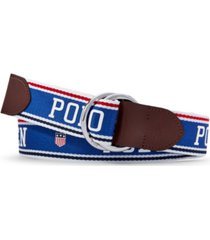 polo ralph lauren men's polo & flag-shield o-ring belt