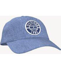 tommy hilfiger men's logo baseball cap chambray -