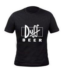 tshirt basica algodão camisa simpsons duff beer masculina preço baixo