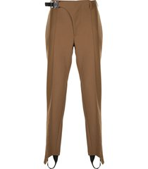 1017 alyx 9sm tailored stirrup trousers - brown