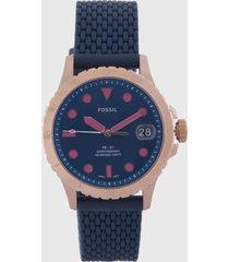 reloj azul-oro rosa fossil