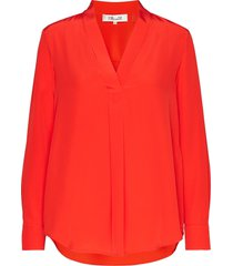 dvf sanorah blouse lange mouwen rood diane von furstenberg
