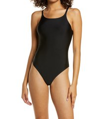 women's honeydew intimates skinz thong bodysuit, size x-large - black