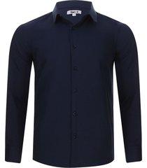 camisa formal m/l color azul, talla xl