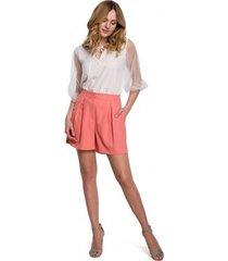 korte broek makover k049 ontspannen shorts - oranje