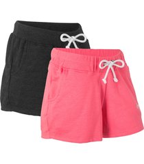 shorts in felpa (pacco da 2) (fucsia) - bpc bonprix collection