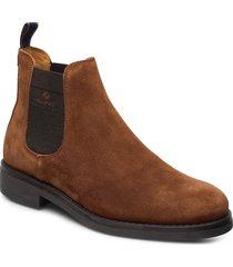 brookly chelsea stövletter chelsea boot brun gant