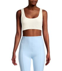 lisa marie fernandez women's sleeveless cropped top - cream - size l