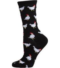 women's chickens bamboo blend crew socks