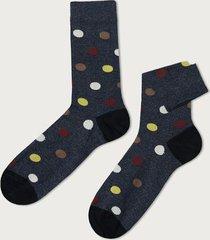 calzedonia patterned cotton ankle socks man blue size tu