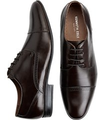 kenneth cole mix-ability brown cap-toe lace ups