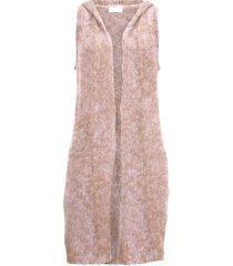 gilet in maglia lungo con cotone riciclato (marrone) - bpc bonprix collection