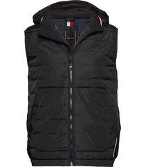 stretch quilted vest vest zwart tommy hilfiger