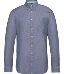 button down, long sleeve, stitching skjorta casual blå marc o'polo
