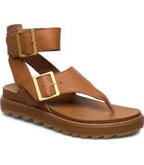 roaming™ t-strap platta sandaler brun sorel