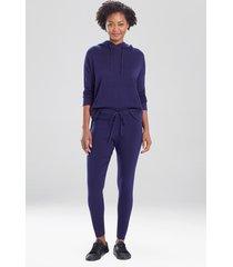 natori kyoto textured knit pants, women's, cotton, size s
