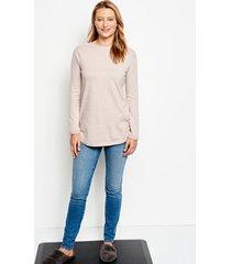 cotton/cashmere/silk easy tunic sweater