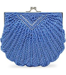 iconic beaded shell convertible clutch