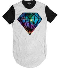 camiseta manga curta skull clothing diamante galaxy branco