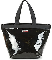 boodschappentas tommy jeans tjw campus twist tote vynl