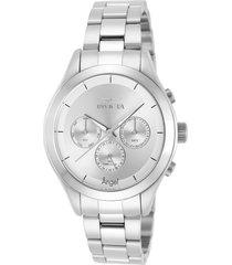 reloj invicta acero modelo 124re para dama, colección angel