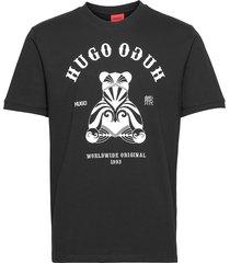 duto t-shirts short-sleeved svart hugo