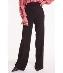 czarne spodnie z wysokim stanem fabienne