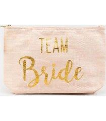 team bride straw pouch - blush
