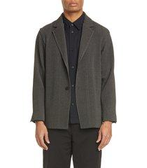 men's homme plisse issey miyake pleated blazer, size 2 - grey