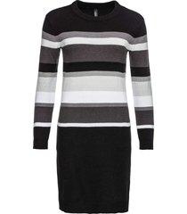 abito in maglia a fasce (nero) - rainbow