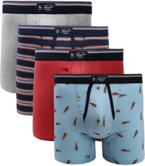 original penguin men's 4-pk. graphic boxer briefs