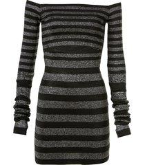 vestido john john penelope curto tricot listrado feminino (listrado, gg)