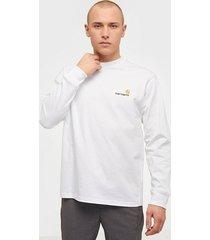 carhartt wip l/s american script t-shirt tröjor white