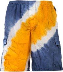 palm angels tie-dye swim shorts - orange